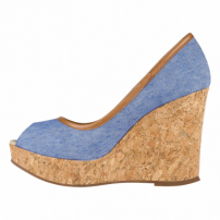 Sapato Barth Shoes Delhi Peep Toe Azul