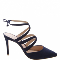 Scarpin Curves Lace Up Dress Blue | Schutz
