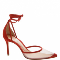 Scarpin Lace-Up Tela Red | Schutz