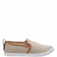 Shoes Schutz Stamp - Slip On Linen Natural | Schutz