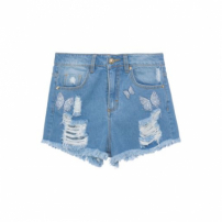 Short Destroyed Litt' - Azul