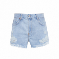 Short Feminino Boy Destroyed - Azul