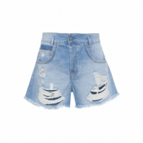 Short Feminino New Ripped Vintage - Azul