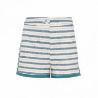 Short Feminino Tweed - Off White E Verde
