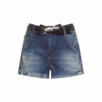 Short Jeans Bug Animale - Azul