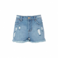 Short Jeans Destroyed Bordado Inca Triya