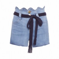 Short Jeans Feminino Cloud - Azul