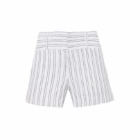 Short Listrado Lica Ateen - Off White