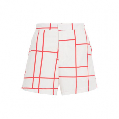 Short Xadrez Mondrian FYI - Off White