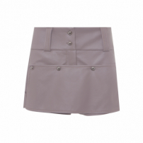 Shorts Feminino Button - Cinza