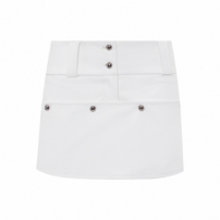 Shorts Feminino Button - Off White