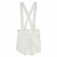 Shorts Suspensório Off White Tom & Tom