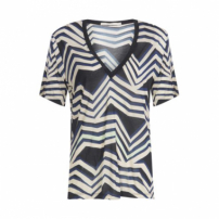 T-Shirt Listra Zig Animale - Preto