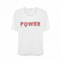 T-Shirt Power - Branco