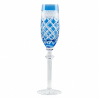 Taça Champagne Cristal Light Blue