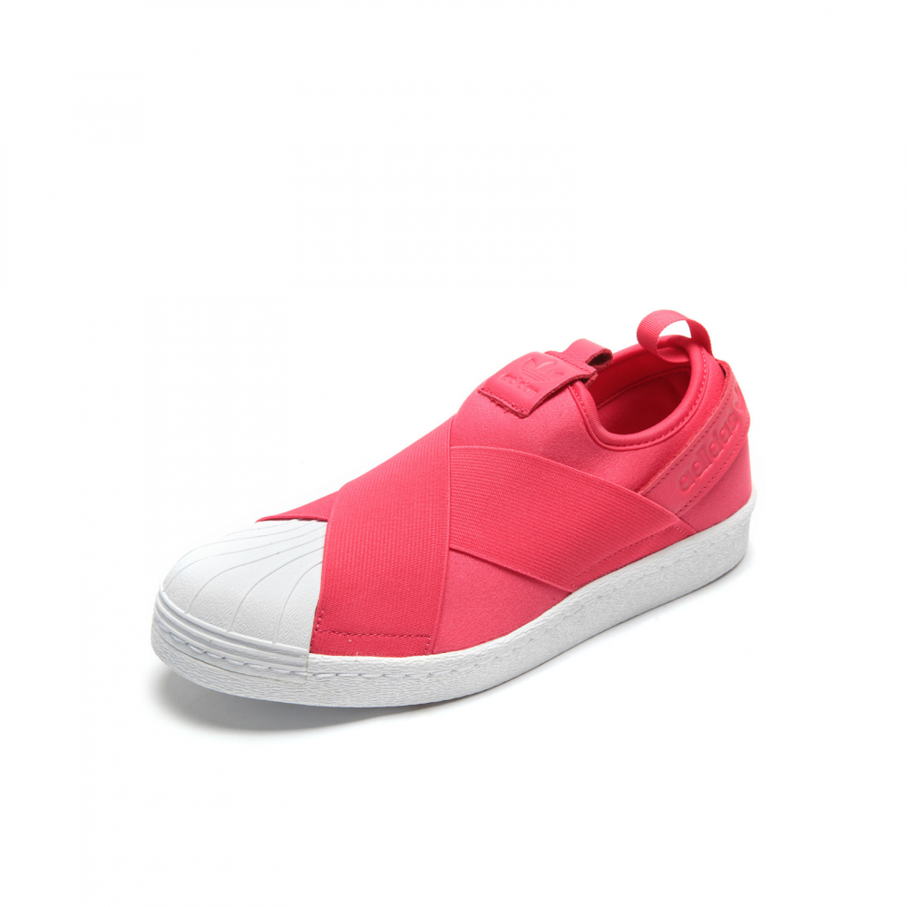 80aedf9f83d1 ... tênis adidas originals superstar slip on rosa branco