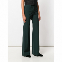 Theory Flared Trousers - Green