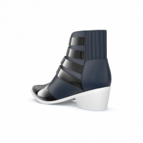 Toga Pulla Ankle Boot De Couro - Navy & Black