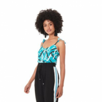 Top Blue Artsy Botanical Alca - 42