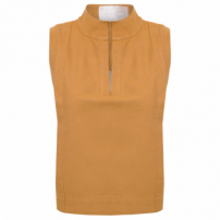 Top Cropped Cotton Washed - Marrom