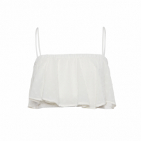 Top Cropped Crepe Lilly - Off White