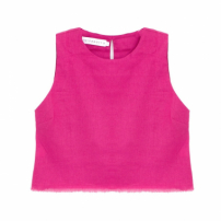 Top Cropped Desfiado Pink Luiza Botto