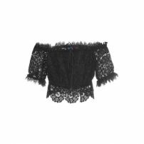 Top Cropped Guiper Litt' - Preto