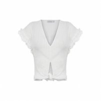 Top Cropped Nó Market 33 - Off White