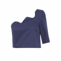 Top Cropped Ondas Wymann - Azul