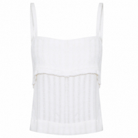Top Cropped Turéia - Off White
