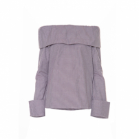Top Ombro A Ombro Tricoline Button Roxo Framed