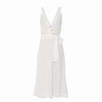 Vestido Cotton Saara Off White Essenciale+Flavia Medrano