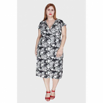 Vestido Flower Plus Size Preto-50