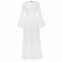 Vestido Longo Summer Canal - Off White