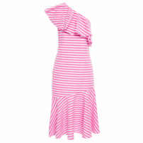 Vestido Ombro So Stripes - Rosa